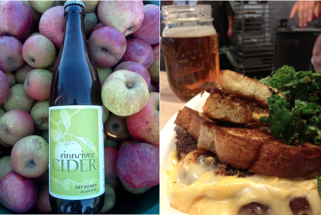 Skillet Counter's Ultimate Grilled Cheese and Cider