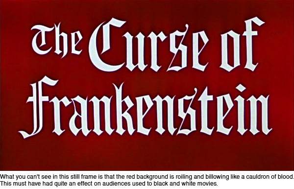 The Color Of Horror Hammer Films The Curse Of Frankenstein